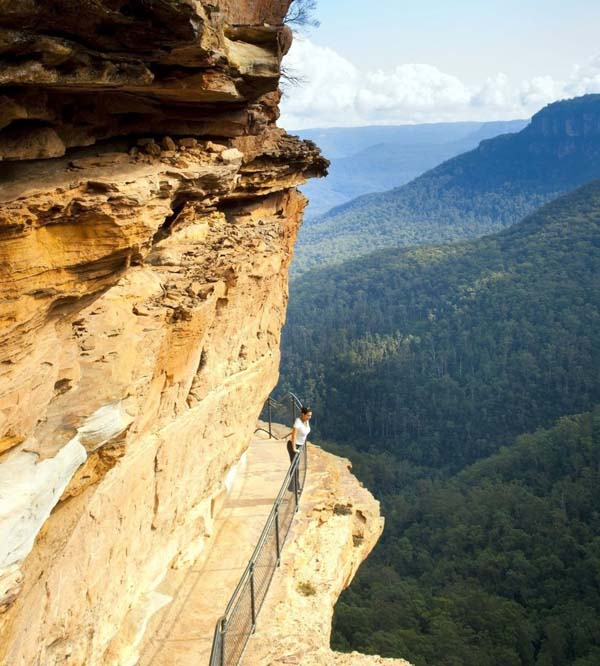 7.) Blue Mountains Mid Cliff Walk (Australia): The Blue Mountains is a mountainous region in New South Wales, Australia. It borders on Sydney