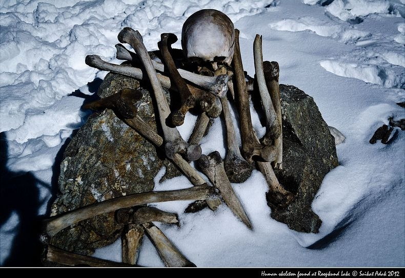 There were many thoughts about where they came from. Some suggested that the bones belonged to General Zorawar Singh of Kashmir, and his men, who are said to have lost their way and perished in the high Himalayas, on their return journey after the Battle of Tibet in 1841