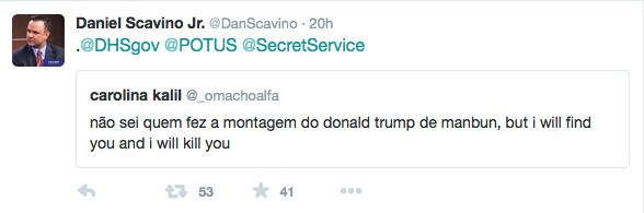 Daniel Scavino Secret Service Tweet Available