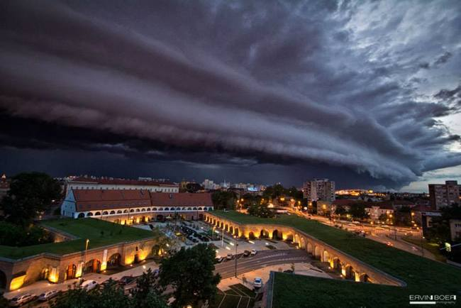 1.) Storm clouds in Romania.