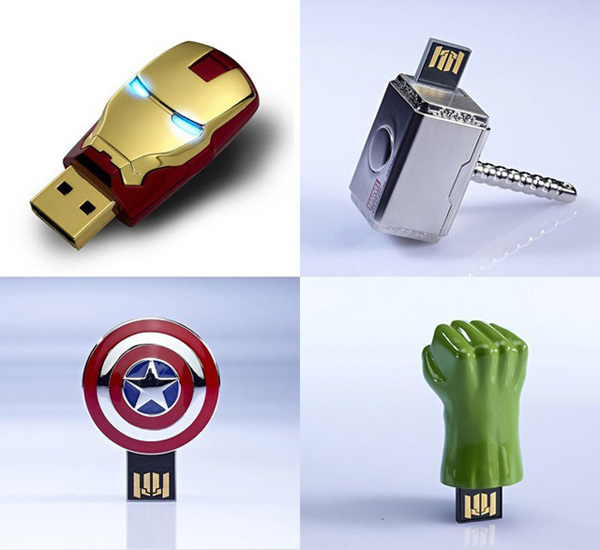 6) Avengers Flash Drives - Just in case you need memory on the go, prepare for the new Avengers movie with these 8GB flash drives.