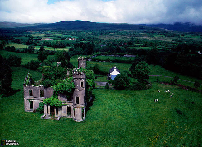 Abandoned Mansion Near Kilgarvan, Ireland.