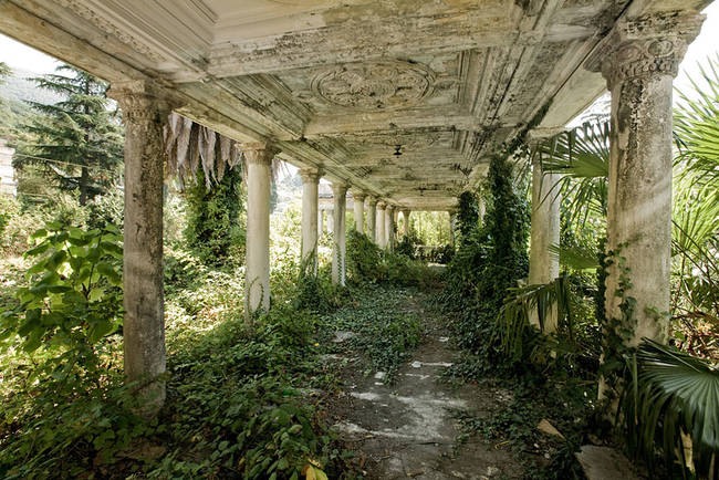 Abandoned Train Station In Abkhazia, Georgia.