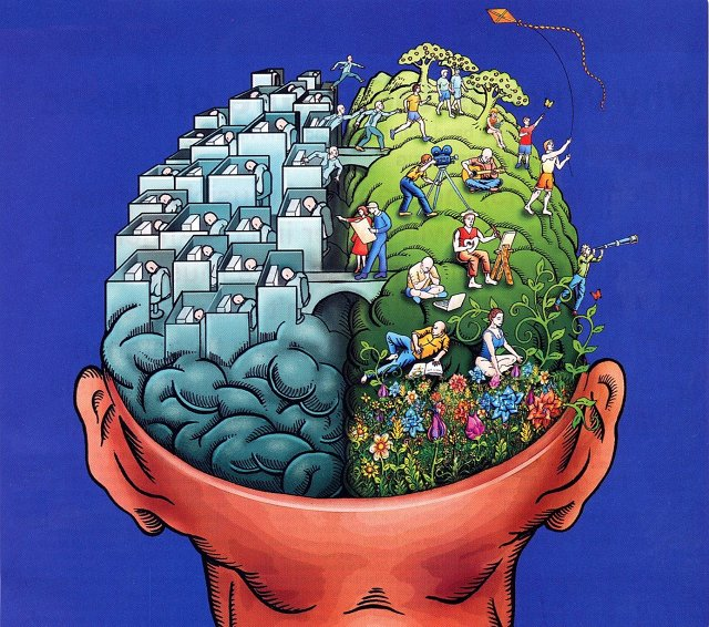 There is no left brain/right brain divide. They are constantly working together.