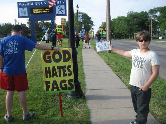 9-year-old Josef Miles points out the error in Westboro Baptist Church