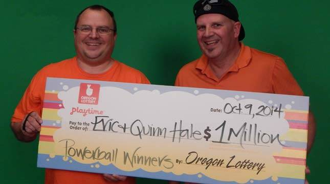 When they were both young, Eric promised his brother, Quinn, that they would split his winnings if he ever won the lottery.