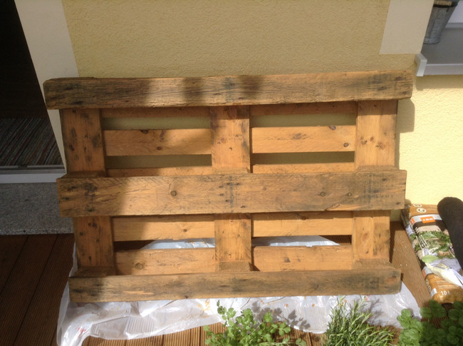 All you need to start is a wood pallet.