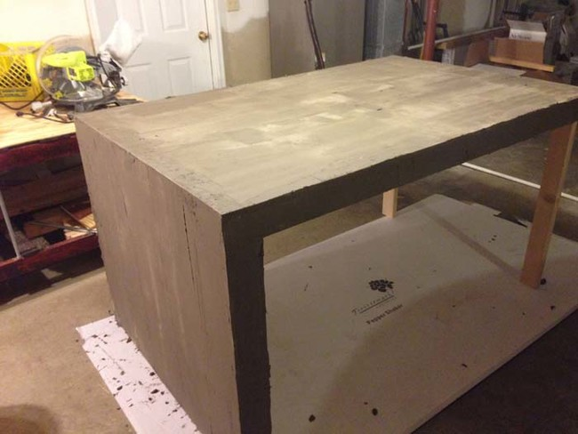 What This Guy Did With Concrete And Plywood In His Kitchen