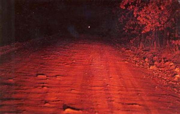 Locals call the road Spook Road and many have even seen the light themselves. Some think it
