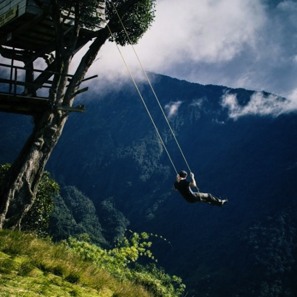 Any thrill-seeker can use the swing to launch themselves out over the canyon below.