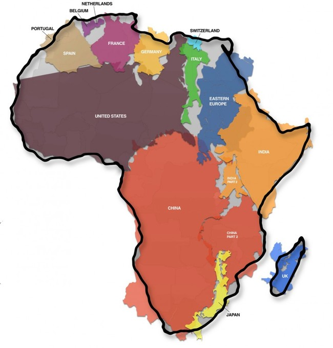 The 50 world maps may change how you view the world i never knew 1 the true size of africa gumiabroncs Gallery